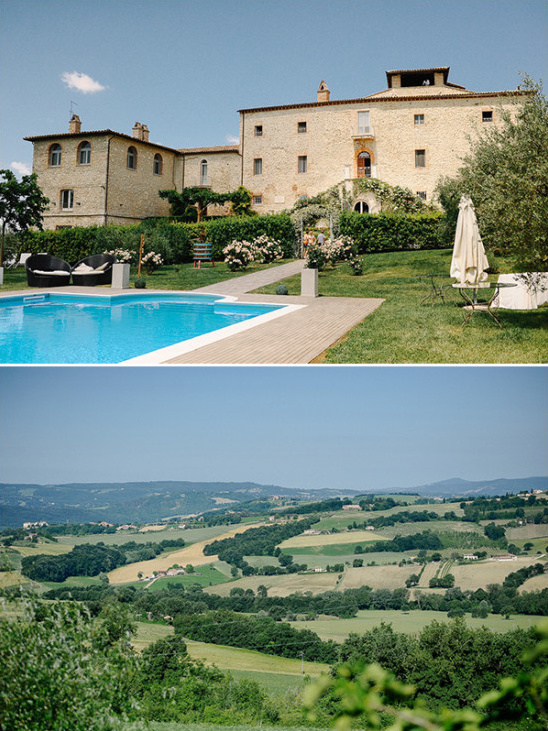 Italian castle venue with stunning view