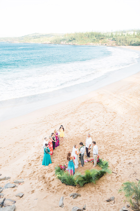 quiet beach wedding