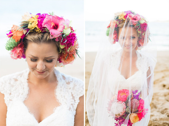 bridal lei halo