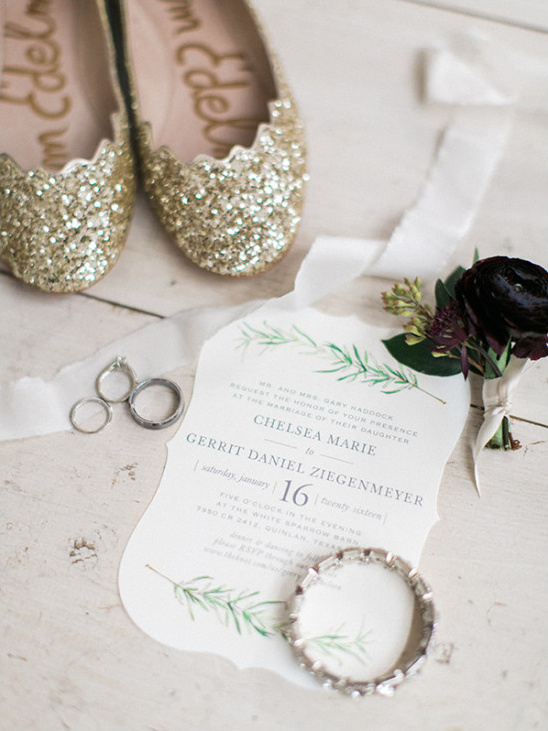 wedding invitation and accessories
