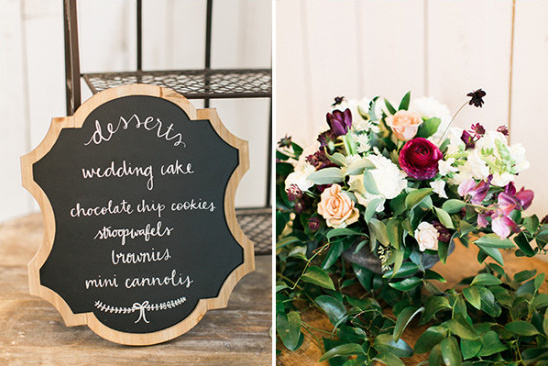 wedding dessert sign