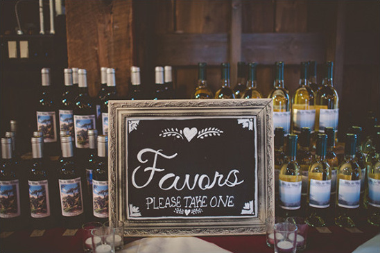 Wedding wine favor ideas
