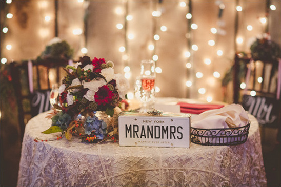 Sweetheart table sign idea