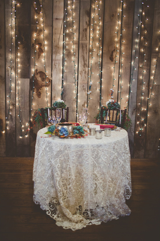 Sweetheart table with backlighting idea