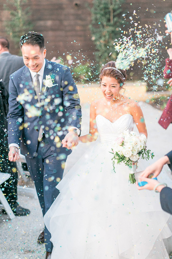Ceremony confetti exit idea