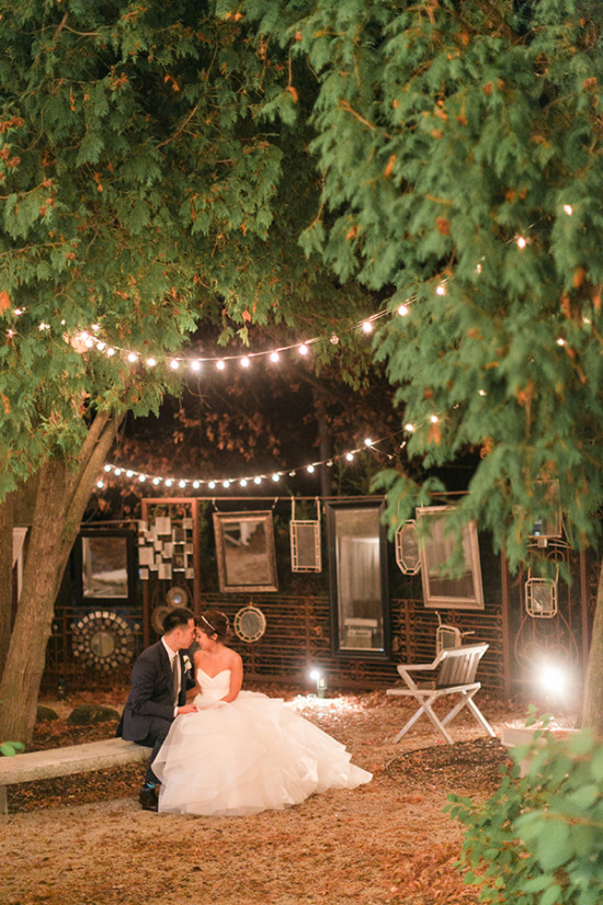 charming pink and white wedding