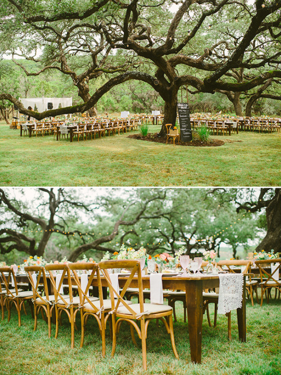 outdoor wedding reception layout