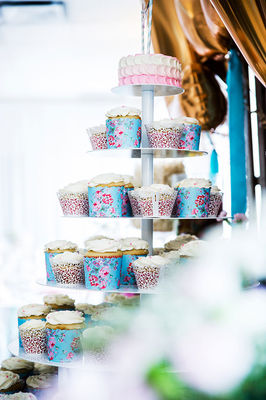 Pink and Blue Tea Party Wedding