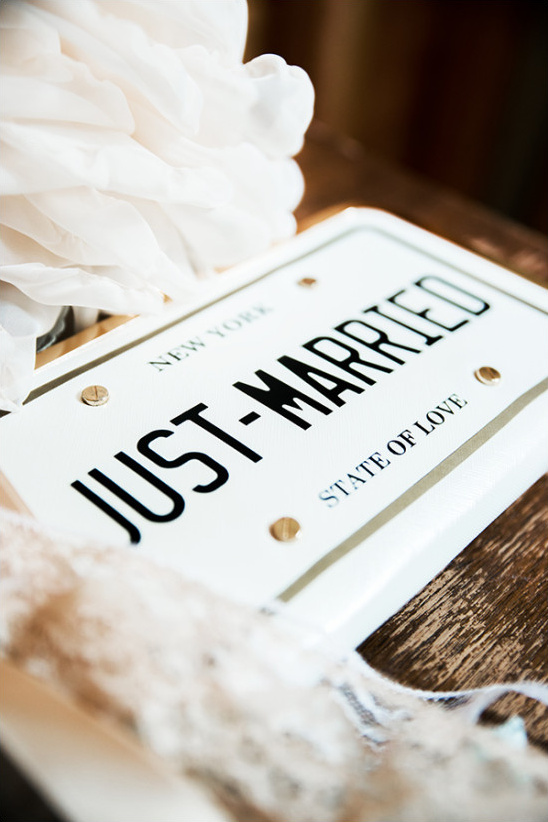 just married wedding purse