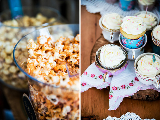 popcorn and cupcakes