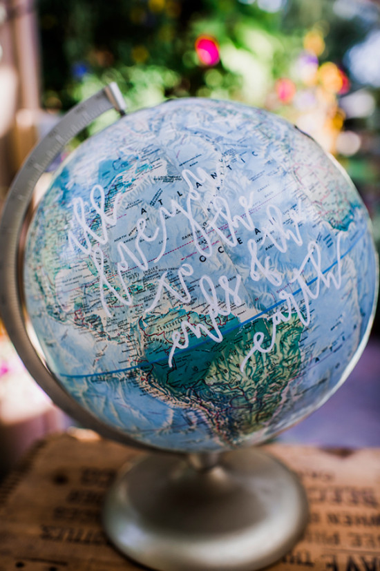 I will love you to the end of the earth globe