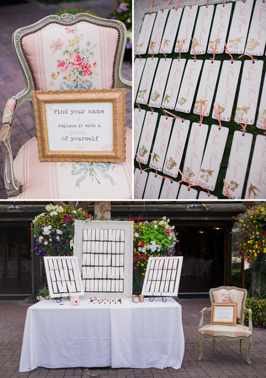 wedding seating plan and escort cards