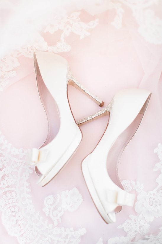 Kate Spade wedding sparkle heels with bows