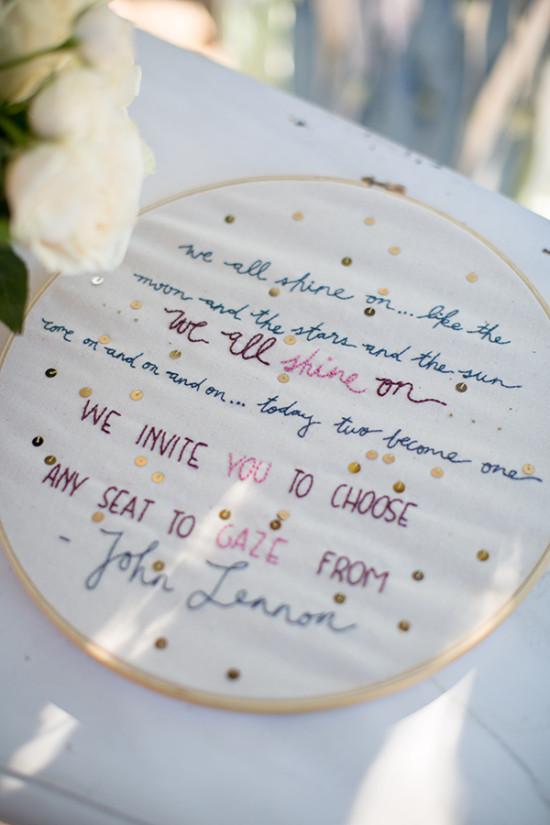 cross stitch wedding sign