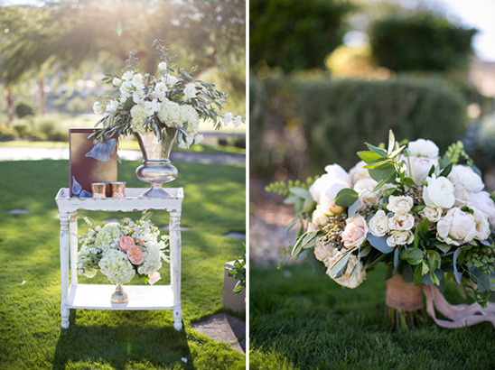 glamorous floral decor for outdoor wedding