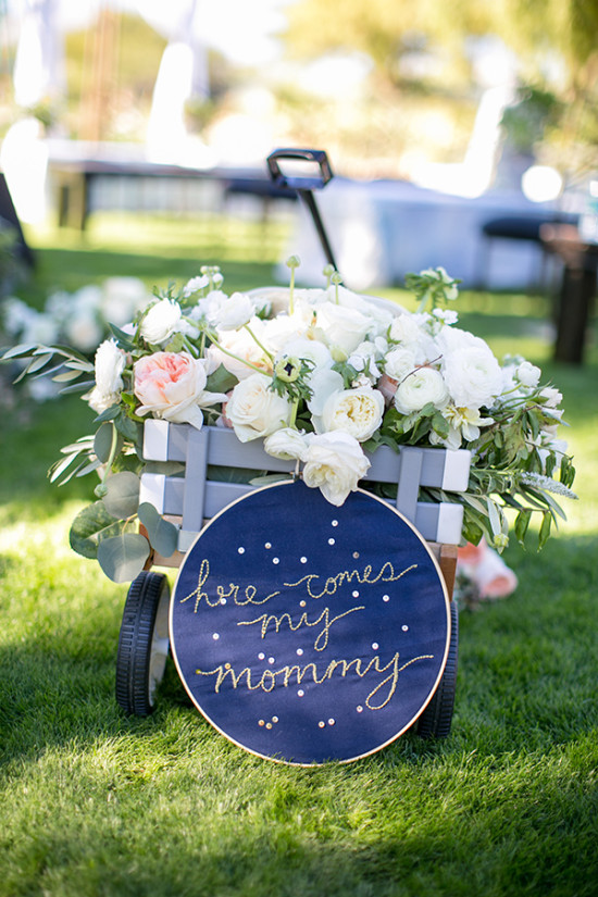 here comes my mommy wedding sign