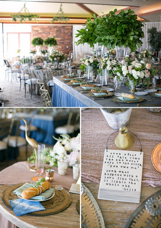 elegant and organic wedding reception