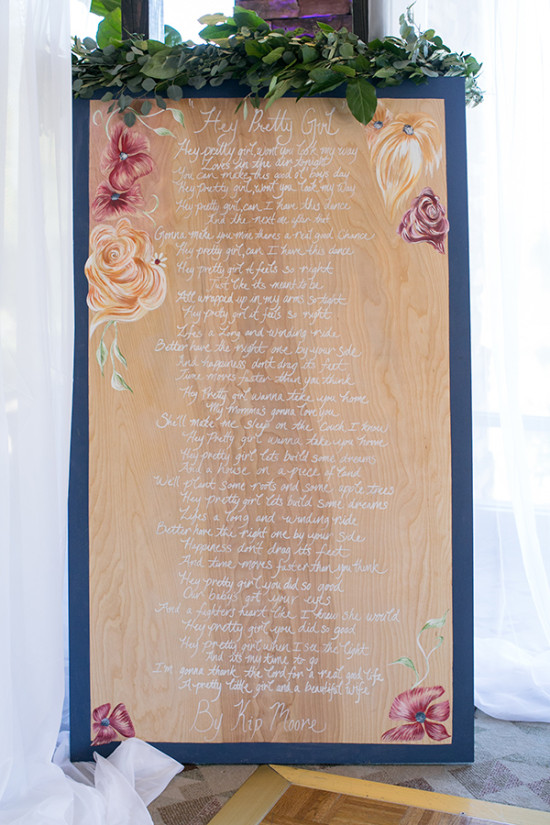 song lyric wedding art