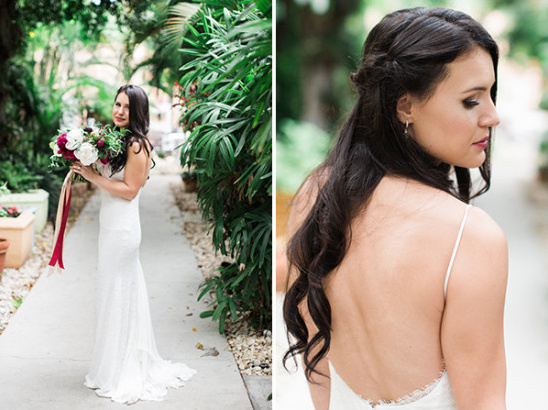 Bridal dress and hair ideas