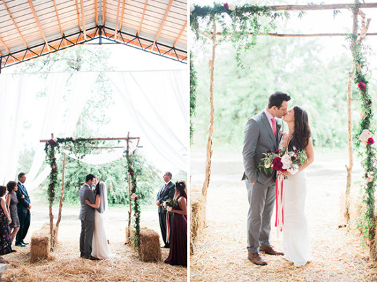 Barn ceremony ideas with view