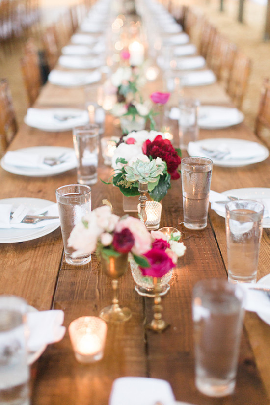 Centerpiece ideas with candles