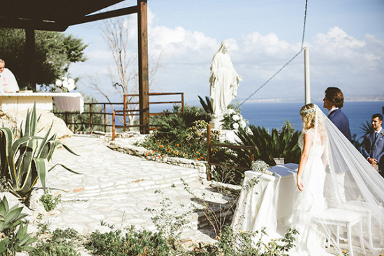 Catholic seaside wedding in Italy