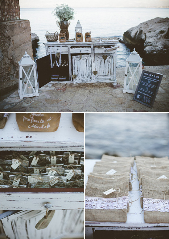 Shabby chic wedding favors