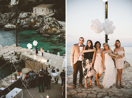 Cute waterfront photo booth idea