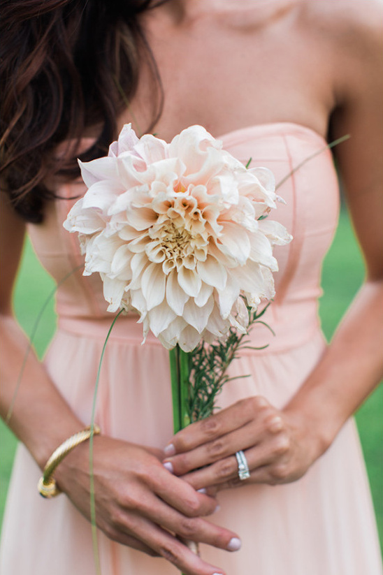 pink dahlia bridesmaid bouquet