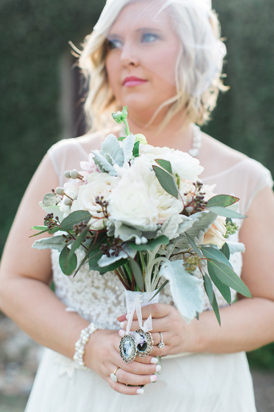 lush white wedding bouquet