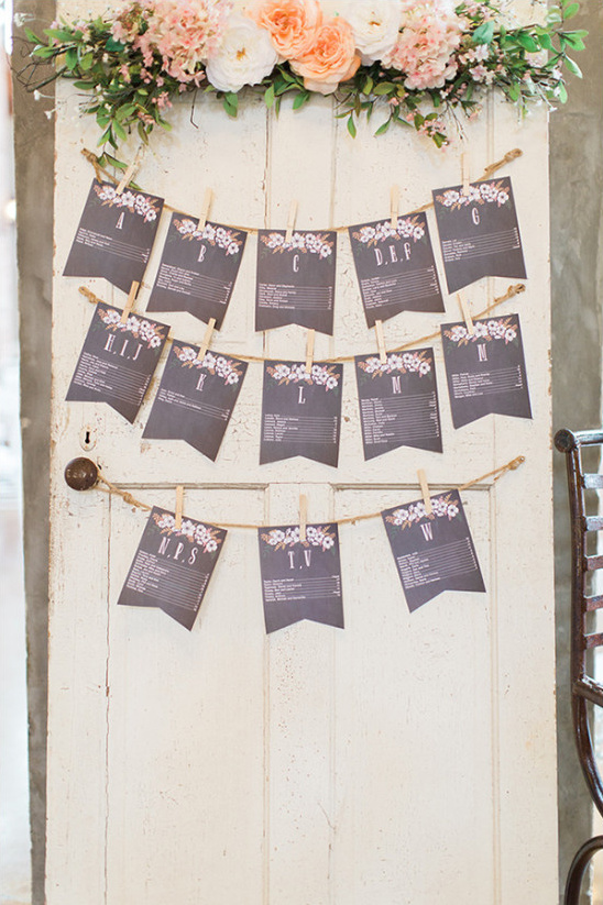 cute bunting seating chart