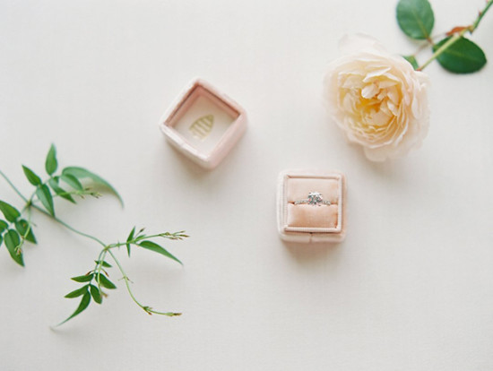 mrs box blush ring box