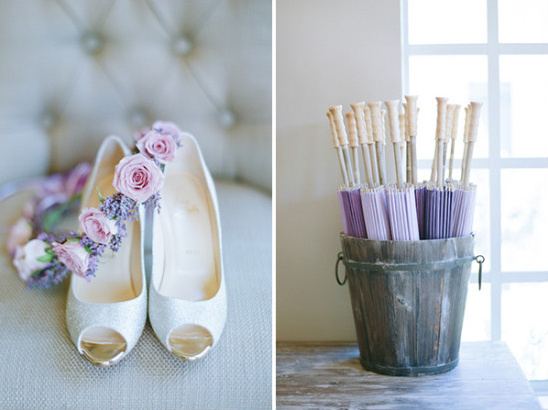 purple wedding accessories