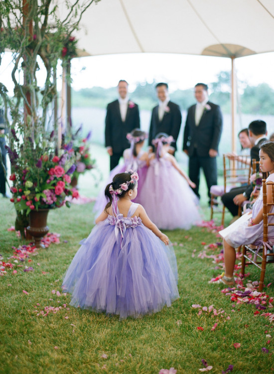 purple tutu flower girls