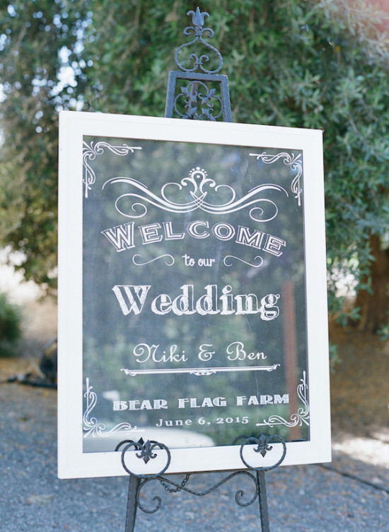 framed window wedding sign