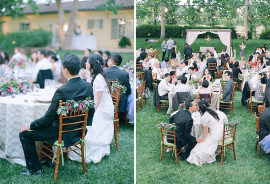 elegant and formal outdoor wedding reception