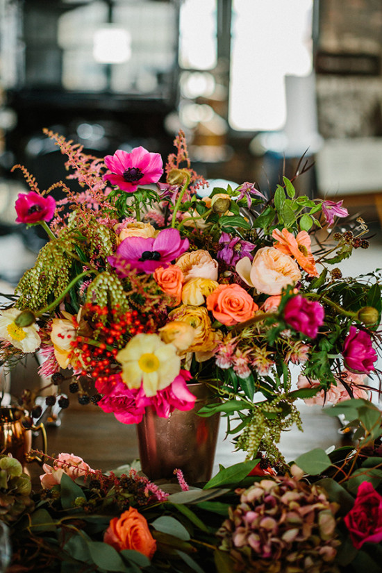 Colorful centerpiece idea