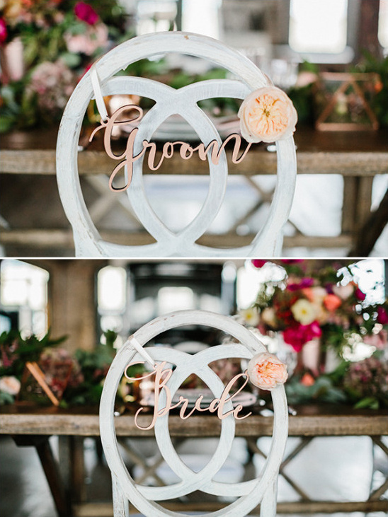 Sweetheart chair sign ideas