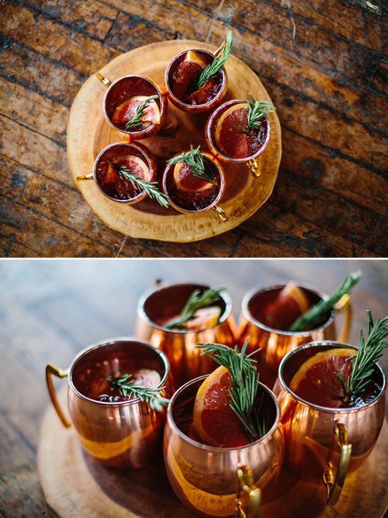 Moscow mule wedding drink