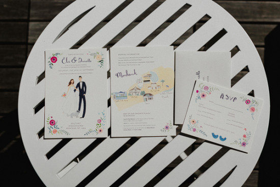 custom wedding invitations and rsvp