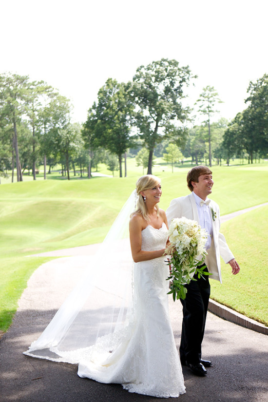 Southern White and Green Wedding