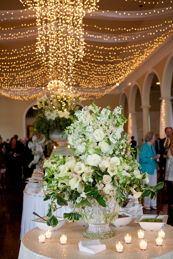 Giant wedding floral arrangment