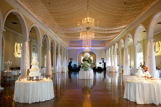 Wedding reception space and lighting idea
