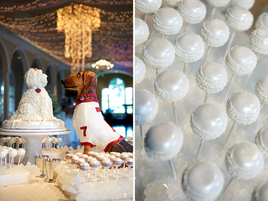 dog and cake pop table