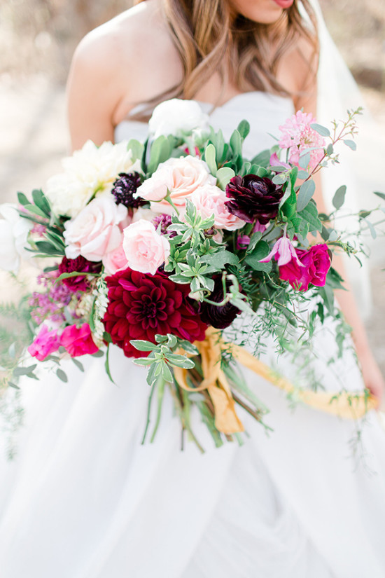 pink and white and red bouquet