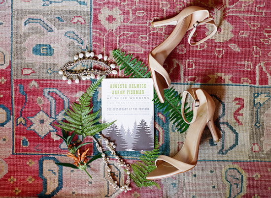 Wedding shoes and invites