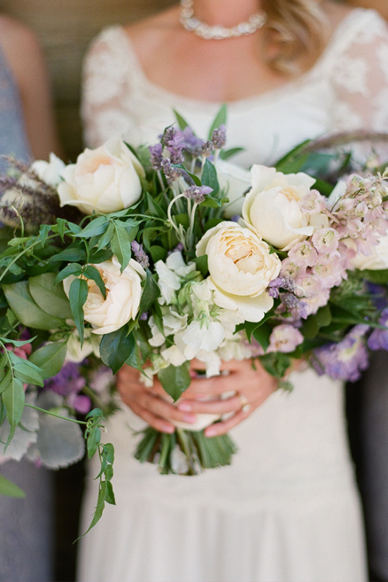 Purple and ivory Wedding bouquet