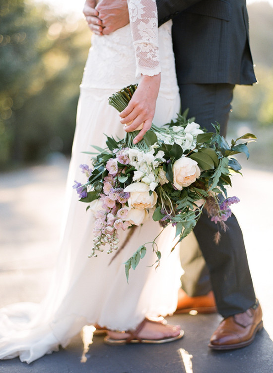 Romantic wedding bouquet photo