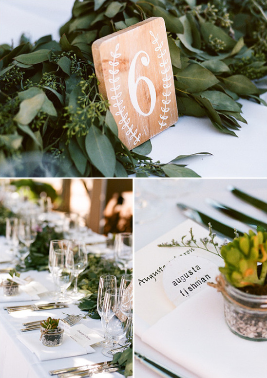Natural elements table decor ideas