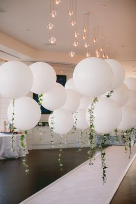 DIY Balloon Garland Engagement Party